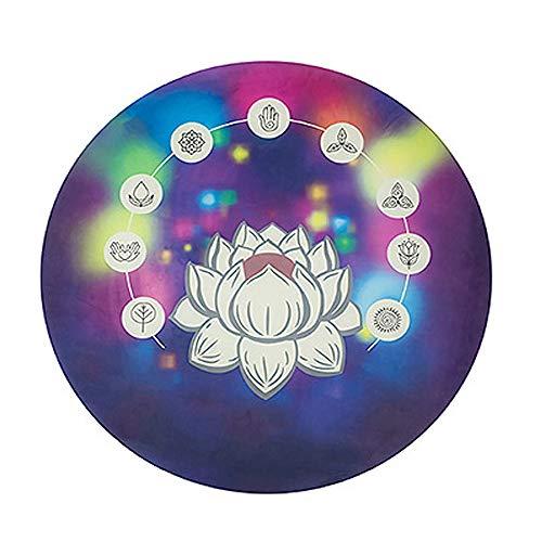 LJJ Colchoneta de Meditación Yoga Antideslizante, Ronda Alfombra Yoga 140x140x4cm,B