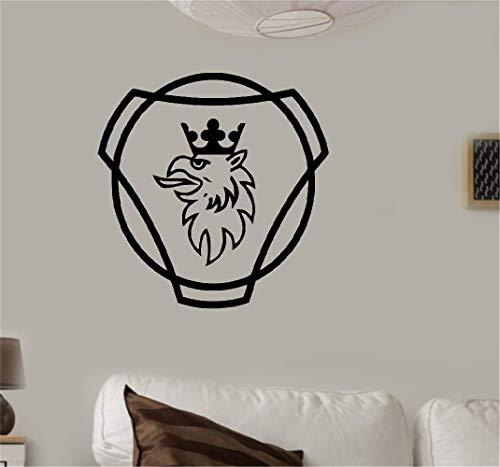 Wandaufkleber Kinderzimmer Wandtattoo Wohnzimmer Sticker Scania Logo Hgv Lkw Sticker Mural Décor À La Maison Chambre Bricolage Sticker Mural