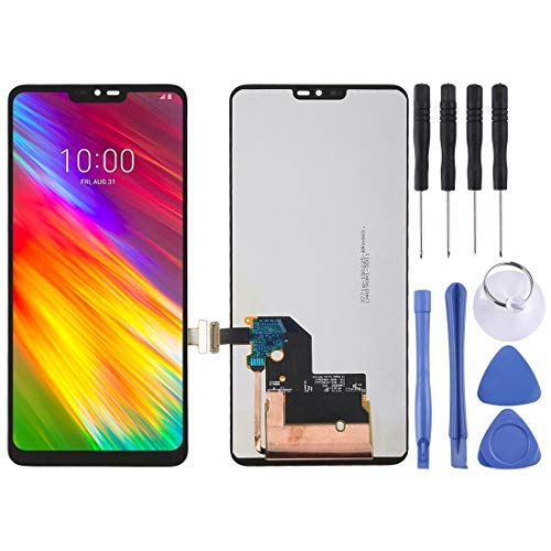QICHENGBIN Ersatz-LCD-Bildschirm Nagelneu und Qualität LCD-Schirm und Digitizer Vollversammlung, for LG G7 ThinQ / G710 G710EM G710PM G710VMP (Schwarz) (Color : Black)