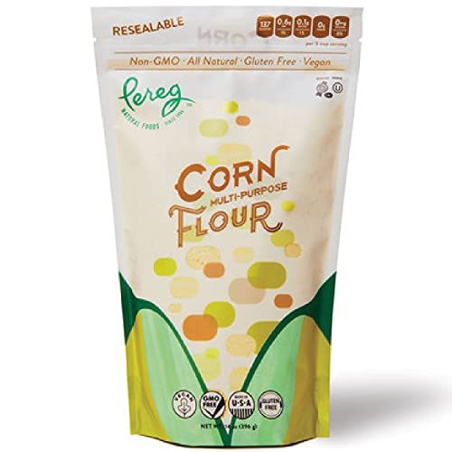 Yellow Corn Flour (14 oz) – Vegan, Non-GMO, Made In USA, Gluten-Free – Cornflour for Mexican Dishes, Bread, Muffins, Cakes, Tortillas, Pupusas & Bakery – Resealable Packaging