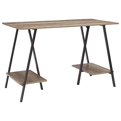 Signature Design by Ashley Bertmond Industrial Home Office Writing Desk, Two-tone Brown