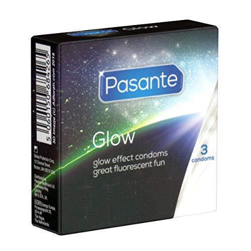 Pasante GLOW 3 Leuchtkondome, fluoreszierend, leuchten im Dunkeln