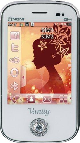 NGM Vanity Touch Smartphone, Dual SIM, Bianco [Italia]
