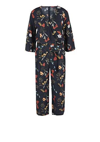 s.Oliver RED Label Damen Jumpsuit mit floralem Print, navy - 3