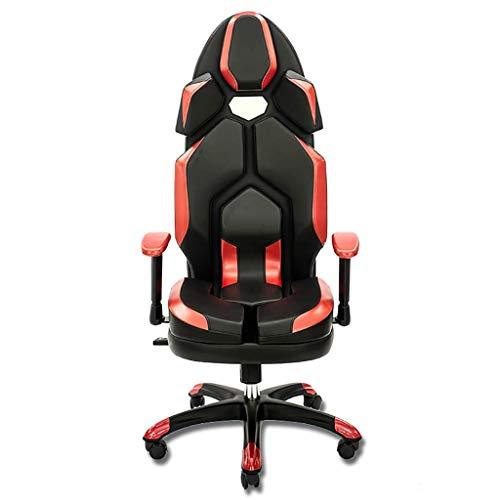 PNYGJDJY Hoge rug Spelstoel ergonomische race-stijl ligstoel, computer bureaustoel executive bureaustoel verstelbare PU lederen racestoel