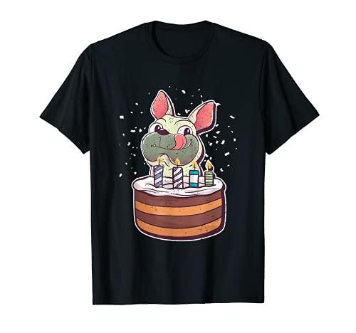 Frenchie Celebration Birthday Party Dog French Bulldog T-Shirt