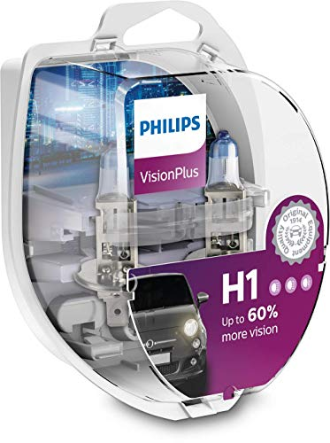 Philips 12258VPS2 VisionPlus +60% H1 Scheinwerferlampe 12258VPS2, 2er Kit