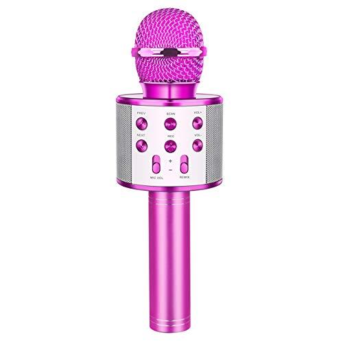 dmazing Geschenk Mädchen 7 8 9 Jahre, Bluetoot Mikrofon Karaok Spielzeug Mädchen 3-15 Jahre Weihnachts Geschenke für Mädchen 3-15 Jahre Spielzeug Geburtstagsgeschenk für Mädchen Llila