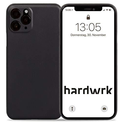 hardwrk Ultra-Slim Case - kompatibel mit Apple iPhone 11 Pro Max - schwarz - Elegante Schutzhülle Handyhülle Cover Hülle - Unterstützt kabelloses Laden - Qi - Wireless Charging - Black