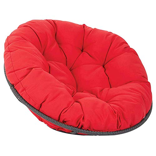 Chair Cushion,Solid Color Thick Nest Hanging Chair Back Swing Seat Cushioning Hammock Round Swivel Rocker Chair Cushion Purple D105cm,Chair Pads