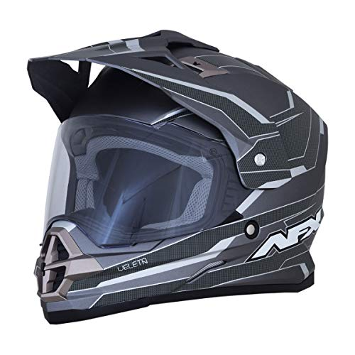 AFX FX-39DS Series 2 Helmet - Veleta (Large) (Frost Grey/Carbon)