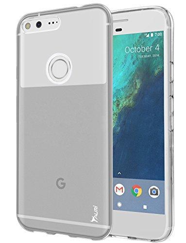 Google Pixel XL Case, Tauri [Scratch Resistant] Ultra Slim Thin Clear Flexible Soft TPU Protective Case Cover for Google Pixel XL - Clear