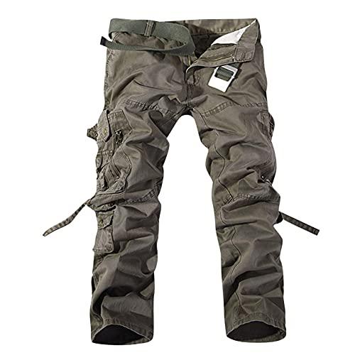 Nuevo 2021 Pantalones para Hombre Casual Moda Talla grande trabajo pantalones Pants Jogging Pantalon Multibolsillos Fitness Chandal Hombre Largos Pantalones Ropa de hombre Pantalones de Trekking