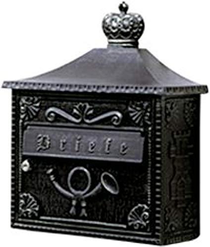 Albert Briefkasten, Aluminium, schwarz, 37 x 15.5 x 44 cm