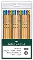 Faber-Castell, 5244117912, Natural Silgili Kurşun Kalem, 12'li