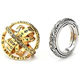 2pcs Pack Astronomical Ring Astrology Mens Zodiac Rings Sphere Ring that Folds out to an Astronomical Sphere 16th Century Astronomical Ring