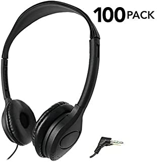 SmithOutlet 100 Pack Over The Head Low Cost Headphones in Bulk