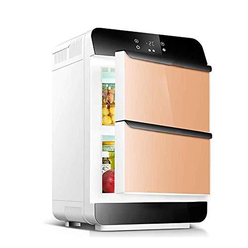 Refrigeradores de bebidas Refrigerador de automóviles, mini refrigerador, 28 litros de refrigeración de doble núcleo, refrigerador eléctrico Refrigeración de dos puertas / caja de calefacción para aut