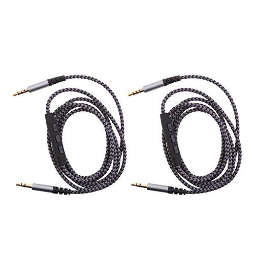 B Blesiya 2X Cables de Audio Macho a Macho de 3,5 Mm con Control de Volumen para Altavoces Estéreo de Automóvil/Automóvil, Auriculares, Reproductor de MP3, IP