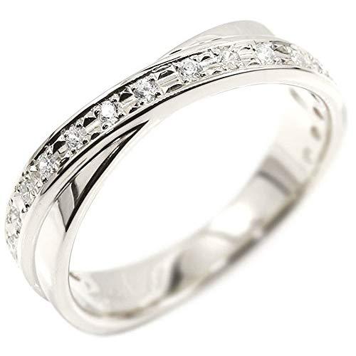 [アトラス] Atrus リング レディース 18金 ホワイトゴールドk18 キュービックジルコニアリング 指輪 1号