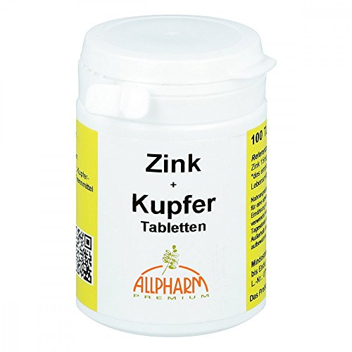 ALLPHARM Zink + Kupfer Tabletten, 100 St. Tabletten