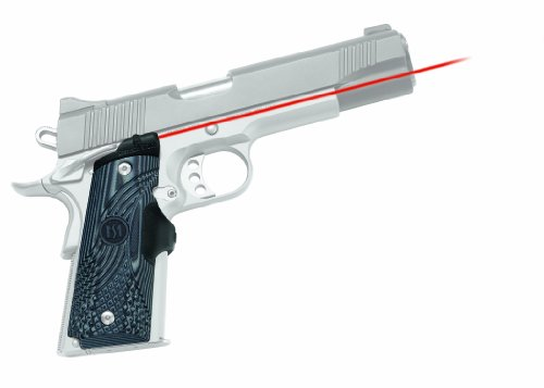 Crimson Trace LG-904 Master Series Lasergrips Red Laser Sight Grips for 1911 Full-Size Pistols - G10 Black/Gray