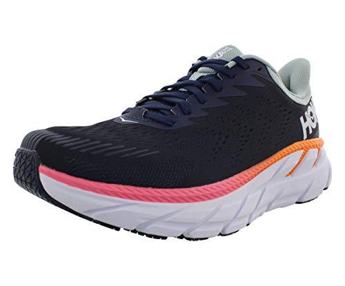 Hoka One Clifton 7 Wide Womens Shoes Size 7.5, Color: Black Iris/Blue Haze