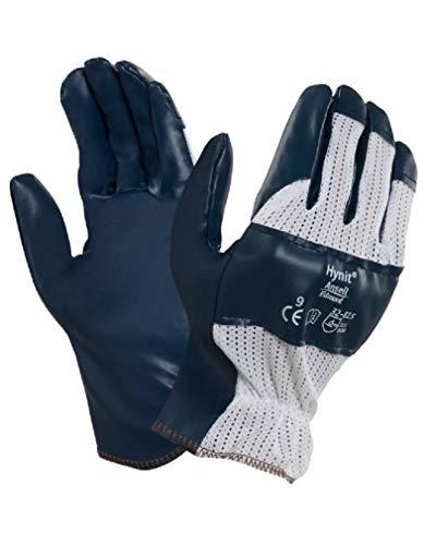 Confezione 12 pezzi Guanti GGU947 HYNIT 32-815 da lavoro palmo in nitrile dorso aerato sensibili traspiranti resistenza abrasione protezione mani (10)