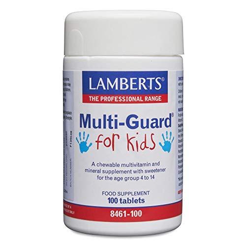 Lamberts/Multi-Guard for Kids Lekkere kauwbare vitamines en mineralen voor kinderen van 4-14 jaar - 100 tabletten