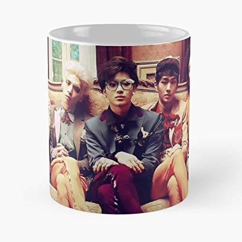 Shinee Married to The Music – Taza de café de cerámica de mármol blanco