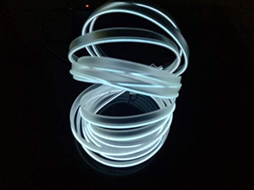 EL Draht, 5M / 16FT USB Neon EL Draht Elektrolumineszenz Drahtstreifen Atmosphäre Kaltlicht für Weihnachtsfeier Indoor Outdoor Dekoration Pub(Weiß)