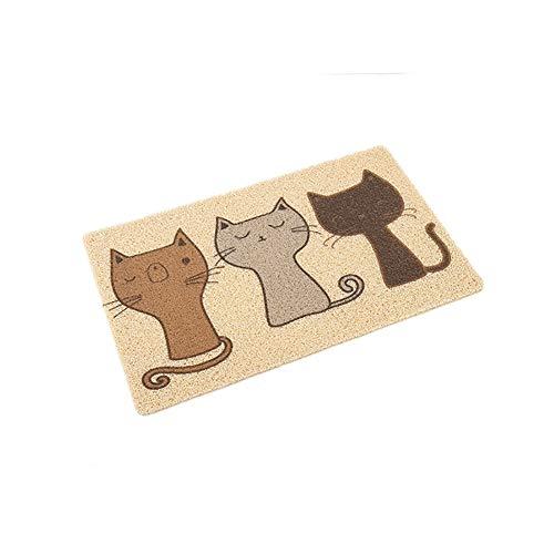 QCWN - Tappetino in PVC da mettere sotto alla lettiera per gatti o alla ciotola del cibo, impermeabile, antiscivolo