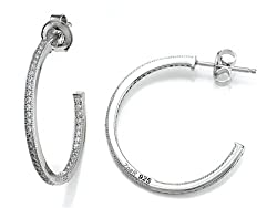 Silver Hoop Earings - Mother's Day Gift Ideas for 2015