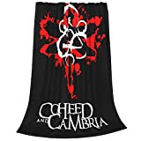 Coheed and Cambria Anti-Pilling Flannel Blankets Micro Fleece Blankets Air Conditioning Blanket Four Seasons Blanket Ultra-Soft Throw Blanket 80'x60'