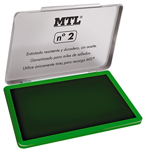 MTL 79533 - Tampón metálico de sellar, 109 x70 mm, color verde