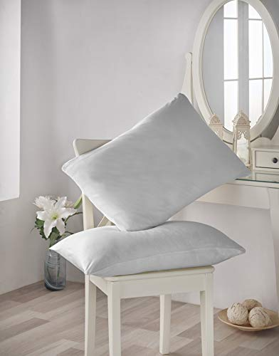 Homefest - 2er Set Kissenbezug, Jersey aus Premium Bio Baumwolle, 40 x 80 cm