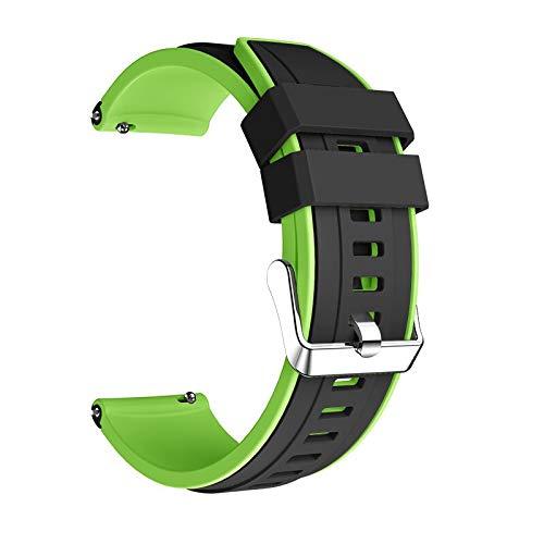 Correa Reloj para Galaxy Watch 3 45mm Strap Double Color Wamkands Sport Brazalet 22mm Watch Band para Galaxy Watch 46mm Correa de Reloj (Band Color : Black Green)