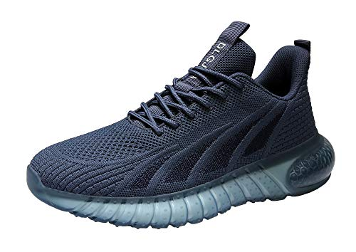 DLGJPA Women's Non-Slip Breathable Fashion Running Sneaker Comfortable Lightweight Walking Shoes Navy