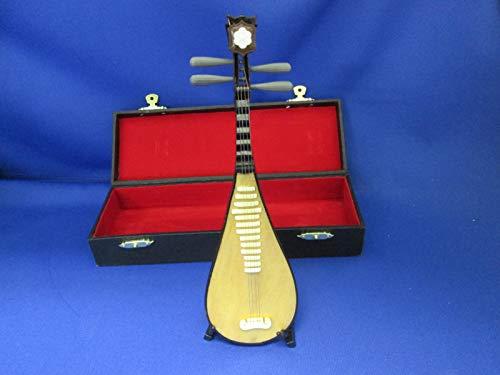 ■飾り物■ミニチュア楽器 中国琵琶 20cm