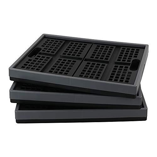 Lesbye Klappboxen aus Kunststoff, Faltbare Kiste, 3er Pack