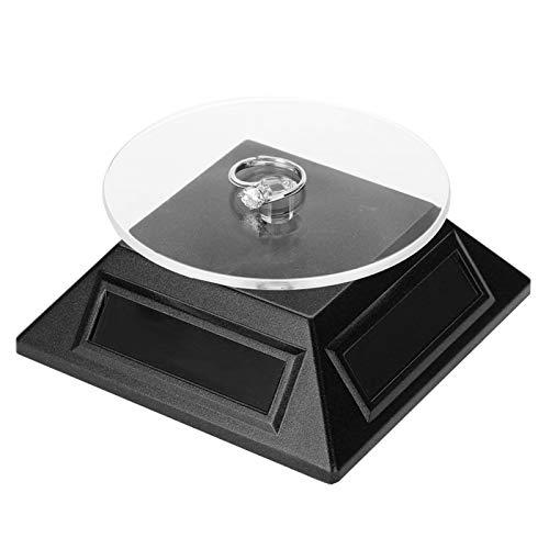 Plattenspieler Exquisite Uhr Telefon Organizer Display Stand Solar, für die Anzeige von Schmuck, Handy(black)