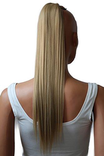 PRETTYSHOP 60cm Haarteil Zopf Pferdeschwanz Haarverlängerung Glatt Blond HC11