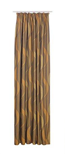 Wirth Fertigschal Lupara mit Kräuselband, Polyester, Orange, 150 x 132 cm