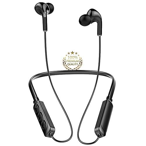 Auricolari Cuffie Bluetooth Sport Auricolari In-Ear Bluetooth Bassi Potenti,IPX7 Impermeabili,Alta Qualità del Suono,Correre Fitness per iphone,Samsung,Xiaomi,Android
