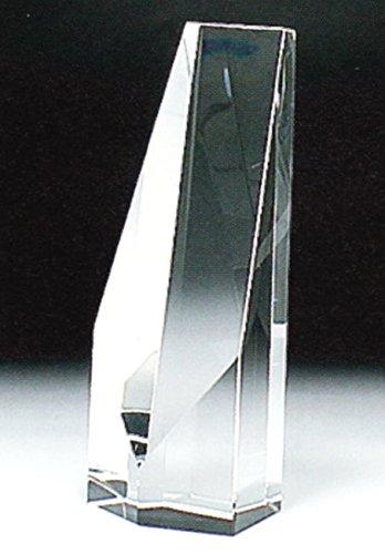 ハセガワ仏壇 クリスタル位牌 (大) 文字彫り [モダン仏壇] クリスタルガラス 白色 k4型 高さ180�o