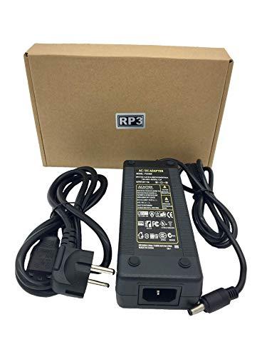 RPS Transformador de fuente de alimentación con enchufe EU de 220vAC a 24vDC para luces de tira de LED o RGB 21,8x14x4,3 DC 6A 140W