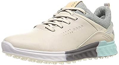 ECCO Women's S-Three Gore-TEX Golf Shoe, Gravel, 9-9.5