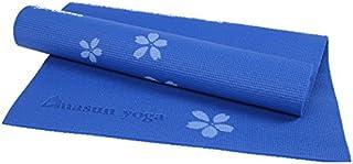 TT WARE 6MM PVC Printed Yoga Mat Non-slip Thicken Foaming Fitness Exercise Mat For Beginner-Blue