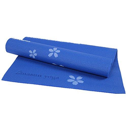 Bluelover 6Mm PVC Imprimé Tapis De Yoga Anti-Dérapant Épaissir Mousse Fitness Mat d exercice pour Débutants - Bleu