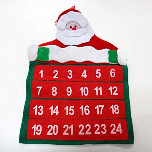 Iaywayii Feliz Navidad de la Navidad de Santa Claus Calendario de Adviento Calendario de Cuenta atrás del...